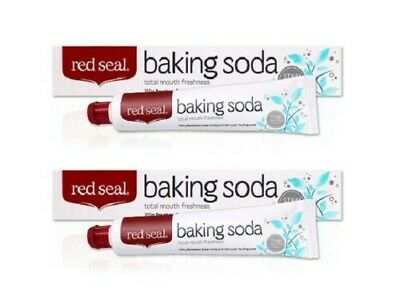 2 x Red Seal Baking Soda Toothpaste 100g Paraben Free Removes Stains