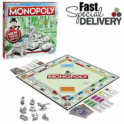 Original Monopoly Board Game Classic Latest Design Traditional Inc Cat