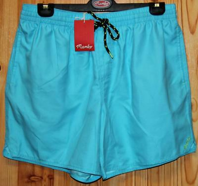 Mambo Brand Mens Blue Simple Volley Shorts Size L - New Tags