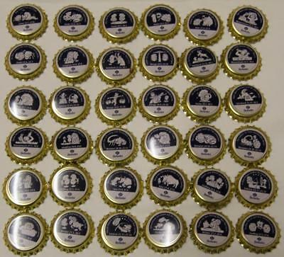 Collectible Set Of 36 Uncrimped German Herforder Bottle Caps/Tops - New