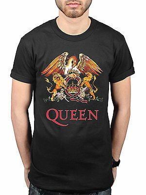 *Sale* Official Queen Classic Crest T-Shirt Rock Band Freddie Mercury Brian May