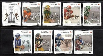2012 Canada SC# 2567a-2567i - 100th Grey Cup Game - from S.S. M-NH