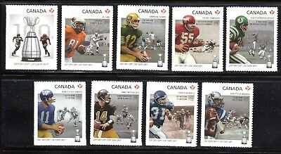 2012 Canada SC# 2568-2567 - 100th Grey Cup Game - from booklet M-NH