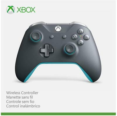 Genuine Microsoft Wireless Controller for Xbox One and Windows 10 Gray/Blue