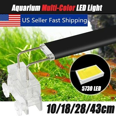 USA 3-18W 5730 LED Aquarium Light Arm Clip on Plant Grow Fish Tank Lighting