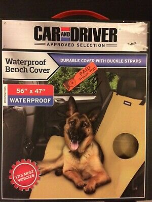 """Car and Driver Approved Selection Waterproof Dog Seat Cover! 56"""" by 47"""""""