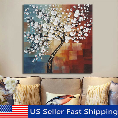 3 Size Framed Abstract Flower Tree Canvas Print Oil Painting Wall Art Home