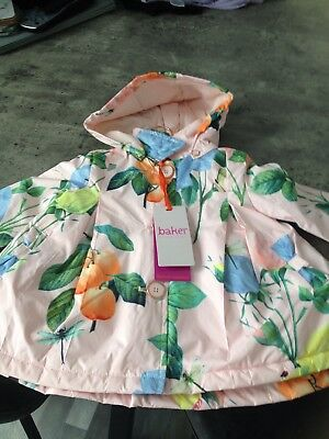 Ted Baker Baby Girl Pink Floral Print Jacket Size 9-12 Months Brand New