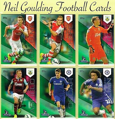 Topps PREMIER GOLD 2014 ☆ GREEN PARALLEL ☆ Premier League Football Cards #/60