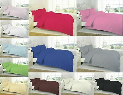 100% Egyptian Cotton 200TC Fitted Sheets Single 4FT Double King Full Flat Sheets