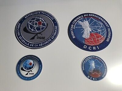 DCRI & DGSE( French Secret Police  Agency) Cloth PATCHES +  STICKERS