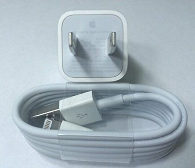 Genuine OEM Original Apple Iphone 7 8 6S 5 Wall Charger Usb lightning Cable Cord