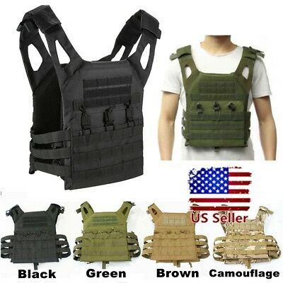 Tactical Military Vest Molle Lightweight Army Waistcoat Combat Plate Carrier  !