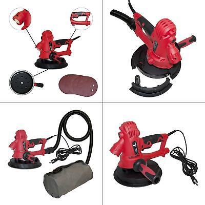 800-watt electric variable speed drywall sander with vacuum and led light | red