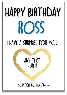 Scratch off birthday surprise card personalised for birthday free postage
