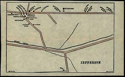 Jefferson New Hampshire village plan c.1880's detailed scarce hand color old map