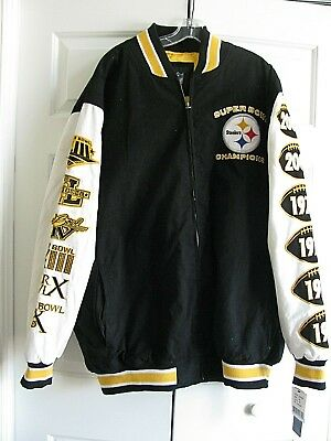 Pittsburgh Steelers NFL 4XL Jacket 6 Time Super Bowl Champs Zipper  Embroidered 888e1a9f9