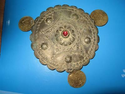 Antique Old Authentic Ottoman Hat Decoration 19Th Century With Coins