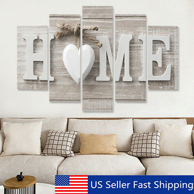 5 Panels Love HOME Wall Art Print Pictures Canvas Painting Decoration Unframed !