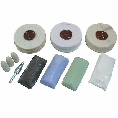 "Standard Metal Polishing Kit Coarse / Medium and Fine 4"" Mops 11pc Kit POL01"