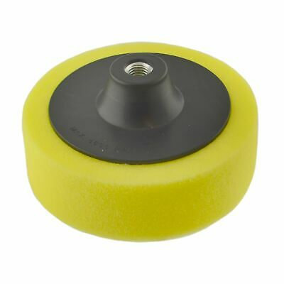 150mm M14 Thread Yellow Polishing Mop Sponge Buffing Wheel Polisher SIL328