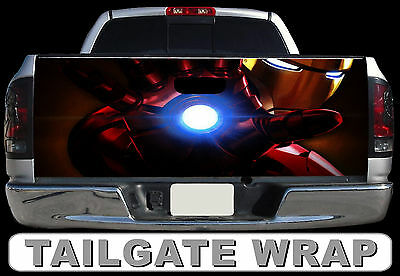T226 IRON MAN Tailgate Wrap Decal Sticker Vinyl Graphic Bed Cover