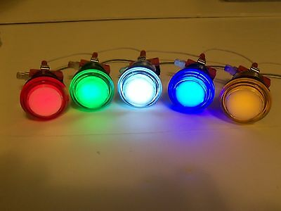 LED lit  Arcade Push Buttons MAME Multicade