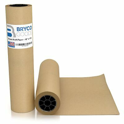 "Brown Jumbo Kraft Paper Roll - 18"" x 2100"" (175') Made in The USA - Ideal for..."