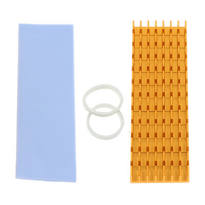 M.2 2280 Solid State Hard Disk Heatsink +Silicone Thermal Pad for SSD Golden