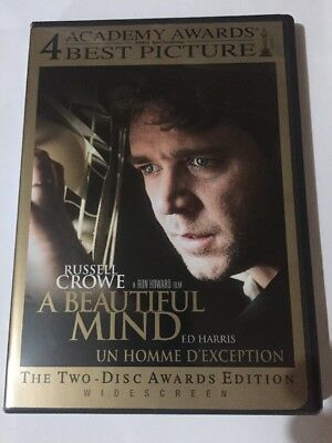 A Beautiful Mind (DVD, 2002, 2-Disc Set, Limited Edition Packaging Widescreen