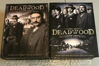 HBO Deadwood - The Complete Second 2 & Third 3 Season Lot DVD VERY GOOD SHAPE!