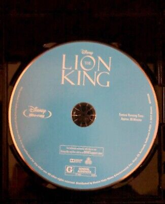 The Lion King (Blu-ray Disc,1994) 2017 Release, 1 Disc Only Never Viewed NO CASE