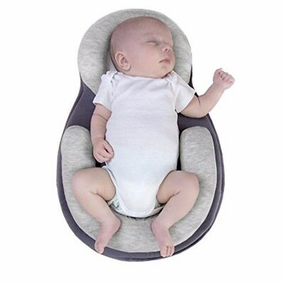 Soft Infant Newborn Baby Pillow Prevent Flat Head Anti Roll Body Support vic