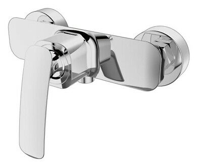 Shower Mixer Valve Manual Tap Wall Mounted Single Lever Solid Brass (71)