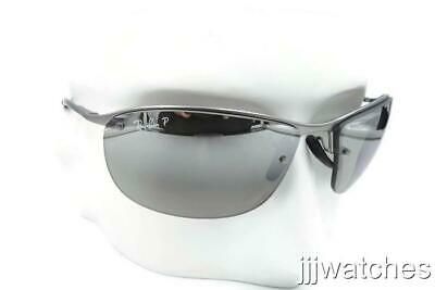 3dd51f9c08 New RayBan Semi-Rimless Polarized Silver Chromance Sunglasses RB3542 029 5J  63
