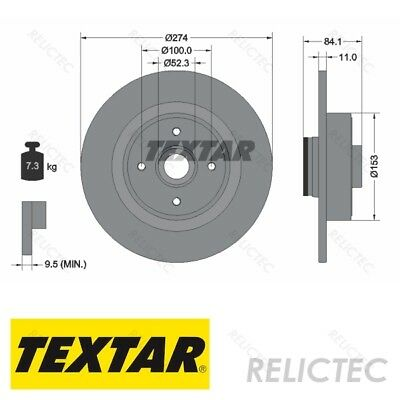 Rear Brake Disc for Renault:GRAND SCENIC II 2 7701208230