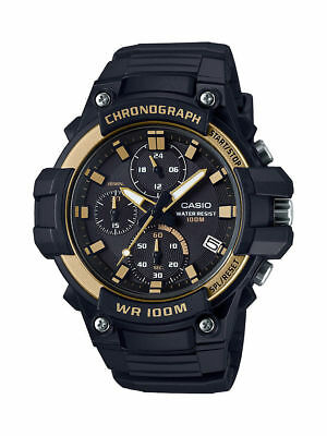 Casio MCW110H-9AV, Chronograph Watch, Black Resin Band, 100 Meter WR, Date