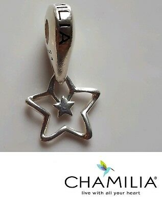 AUTHENTIC CHAMILIA 925 STERLING SILVER HANGING MARTINI GLASS CHARM GH-12 DANGLE