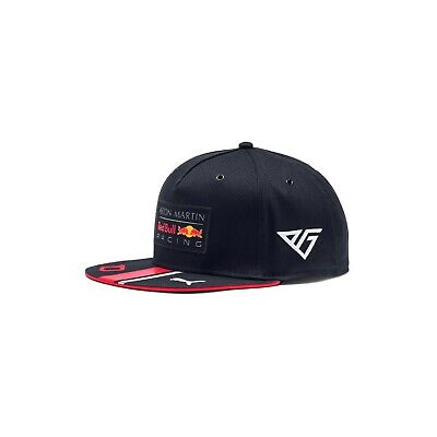 Aston Martin Red Bull Racing F1 Official Adults Team Gasly FlatBrim Cap - 2019