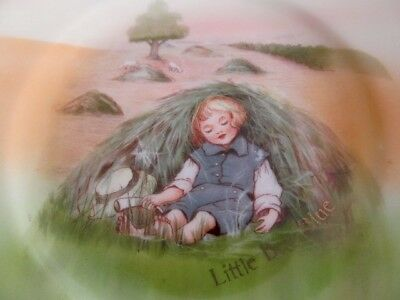 Antique ROYAL BAYREUTH BAVARIA~ LITTLE BOY BLUE Nursery Rhyme Childs Plate- EUC
