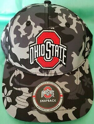 official photos 925aa f19b3 Ohio State University Hat Gray Camo One Size Baseball Snap Back Cap OSU NWT