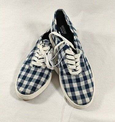 Women s Mossimo Supply Co. Lunea Canvas Sneakers Shoes Navy Plaid Size 10  NEW ae746d5e3f