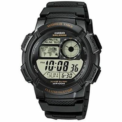 Casio AE1000W-1AV, Digital Watch, Chronograph, 5 Alarms, 10 Year Battery