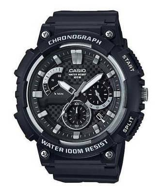 Casio MCW200H-1AV, Chronograph Watch, Black Resin Band, 100 Meter WR, Date