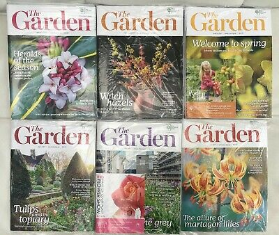6 x RHS The Garden Magazine - January, February, March, April, May & June 2017