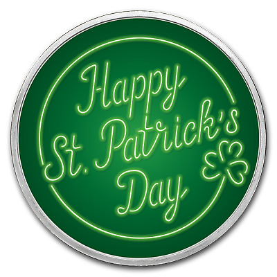 1 oz Silver Color Round - APMEX (St. Patrick's Day) - Lot of 5