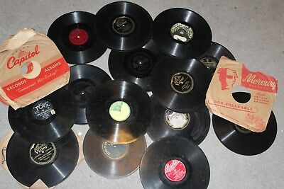 15pc Edison Imperial Victor Supertone Zonophone Paramount Tops Phonograph Record