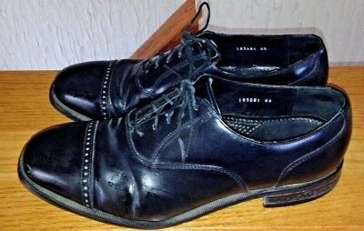 FLORSHEIM LEXINGTON CAP Toe Leather Oxford Shiny Black Dress Shoes ... 8e3d7a17e56