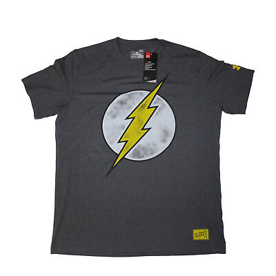 877583cc NWT Under Armour Alter Ego The Flash Justice League Tee Mens Large Heat  Gear L