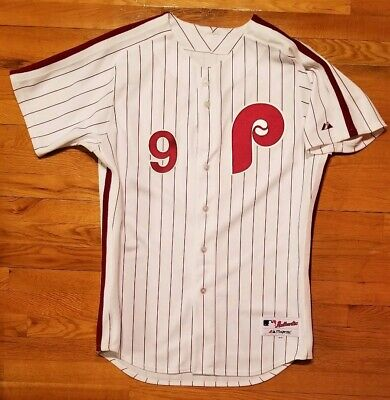 85b2074a5  WOW  Philadelphia PHILLIES MANNY TRILLO Jersey Mens 44 retro baseball  authentic